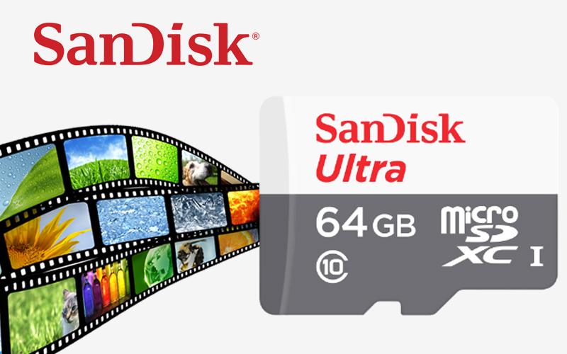 Thẻ nhớ MicroSD 64GB Sandisk Class 10 - Thẻ nhớ microSD thương hiệu Sandisk uy tín