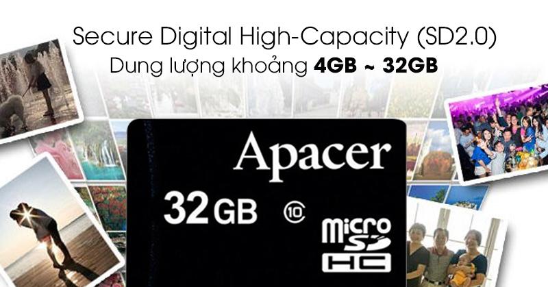 Thẻ nhớ MicroSD 32GB Apacer Class 10 UHS-1 - Thẻ nhớ SDHC