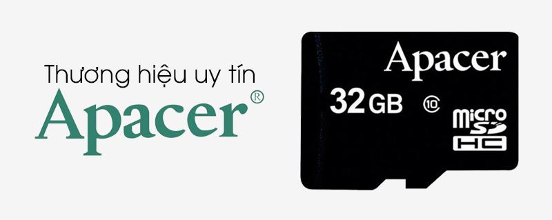Thẻ nhớ MicroSD 32GB Apacer Class 10 UHS-1 - Thẻ nhớ thương hiệu Apacer uy tín