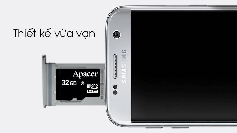 Thẻ nhớ MicroSD 32GB Apacer Class 10 UHS-1 - Thiết kế để vừa vặn với khe cắm thẻ nhớ của điện thoại, máy tính bảng
