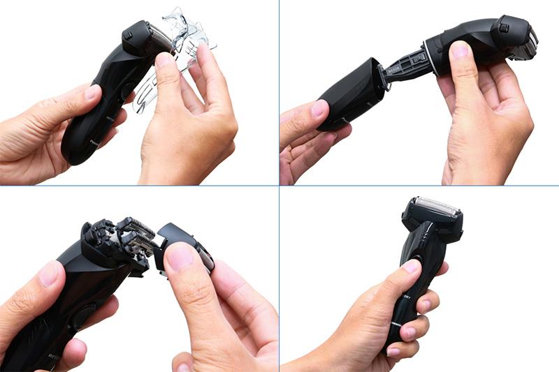Dễ tháo lắp vệ sinh, thay pin, bảo quản - Máy cạo râu Panasonic ES-SL10-K401