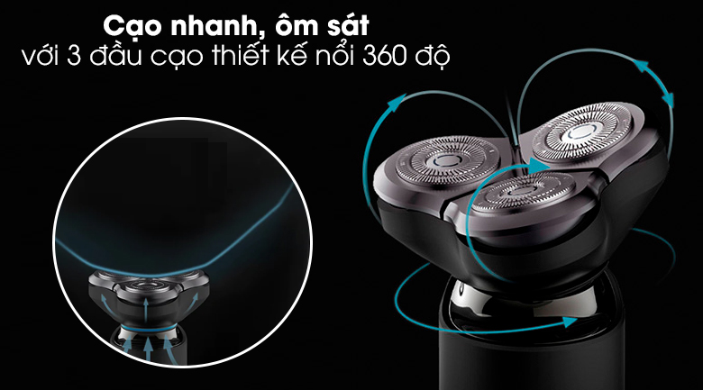 Máy cạo râu Xiaomi S500 NUN4131GL - Lướt êm ái, cạo sạch nhanh