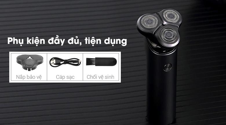 Máy cạo râu Xiaomi S500 NUN4131GL - Phụ kiện đi kèm đầy đủ