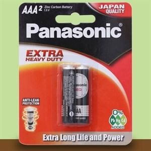 Pin AAA 2 viên Manganese Panasonic R03NT-2B Đen