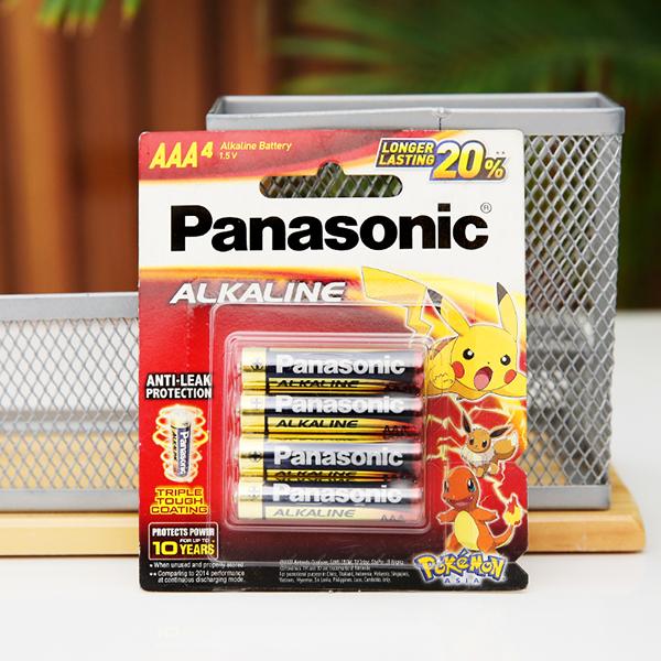 Vỉ 4 viên Pin tiểu AAA Panasonic Alkaline LR03T/4BPKV (LR03T/4B-V) 1