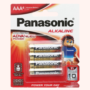Vỉ 4 viên Pin tiểu AAA Panasonic Alkaline LR03T/4BPKV (LR03T/4B-V)