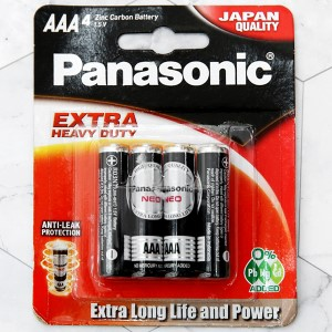 Vỉ 4 viên Pin tiểu AAA Panasonic R03NT/4B-V