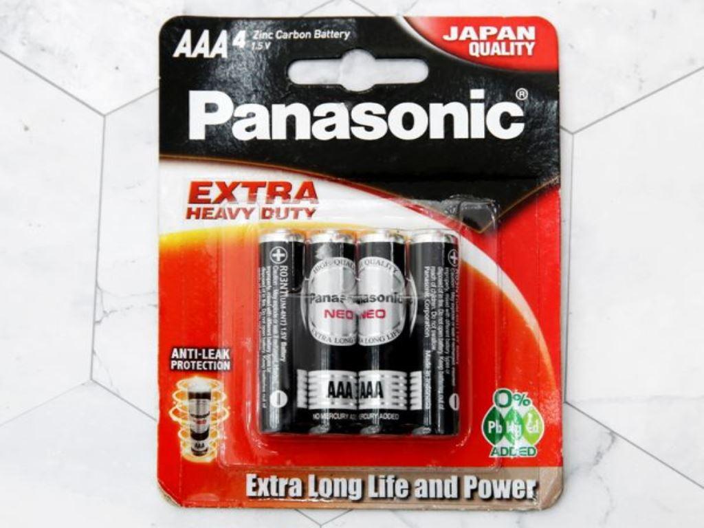 Vỉ 4 viên Pin tiểu AAA Panasonic R03NT/4B-V 1