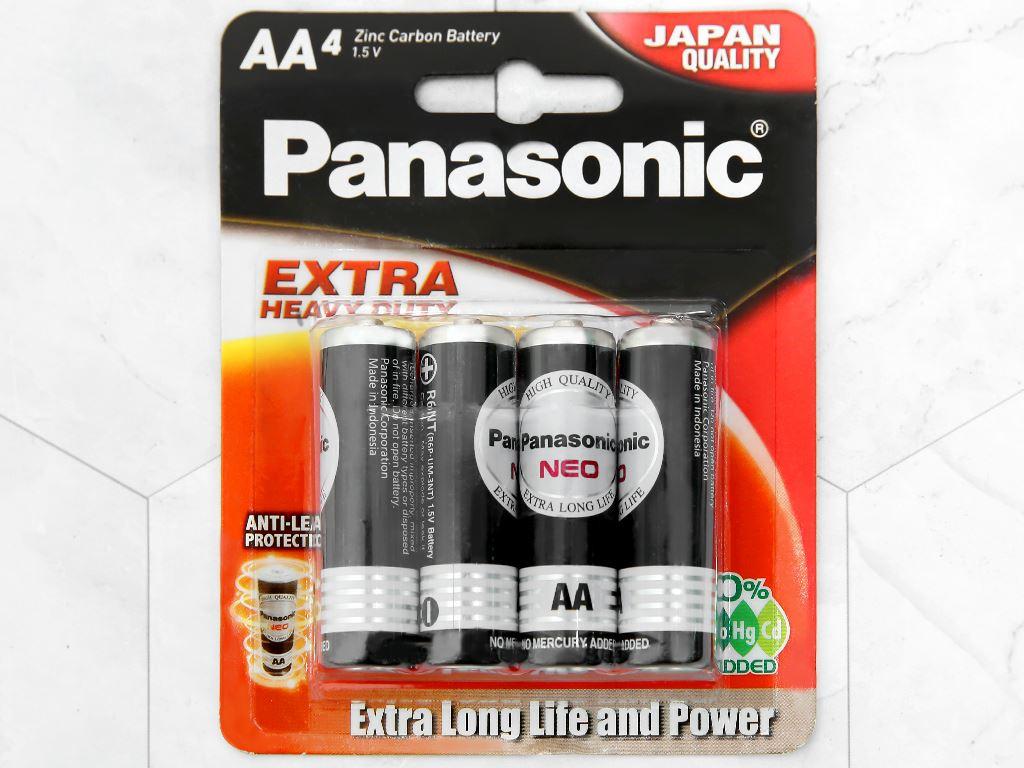 Vỉ 4 viên Pin tiểu AA Panasonic Manganese R6NT/4B-V 1