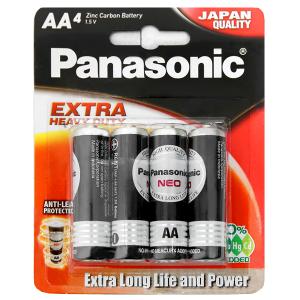 Vỉ 4 viên Pin tiểu AA Panasonic Manganese R6NT/4B-V