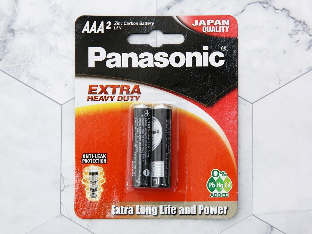 Vỉ 2 viên Pin tiểu AAA Panasonic Manganese R03NT/2B-V 1