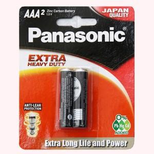 Vỉ 2 viên Pin tiểu AAA Panasonic Manganese R03NT/2B-V