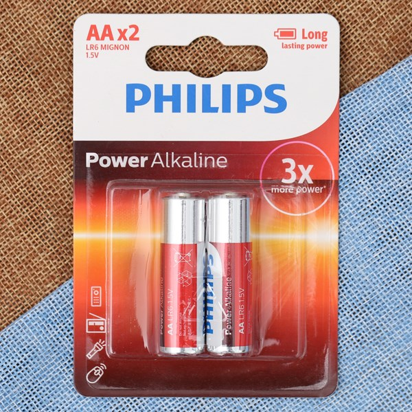 Pin AA 2 viên Alkaline Philips LR6P2B
