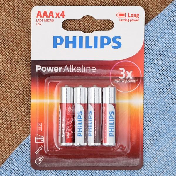 Pin AAA 4 viên Alkaline Philips LR03P4B