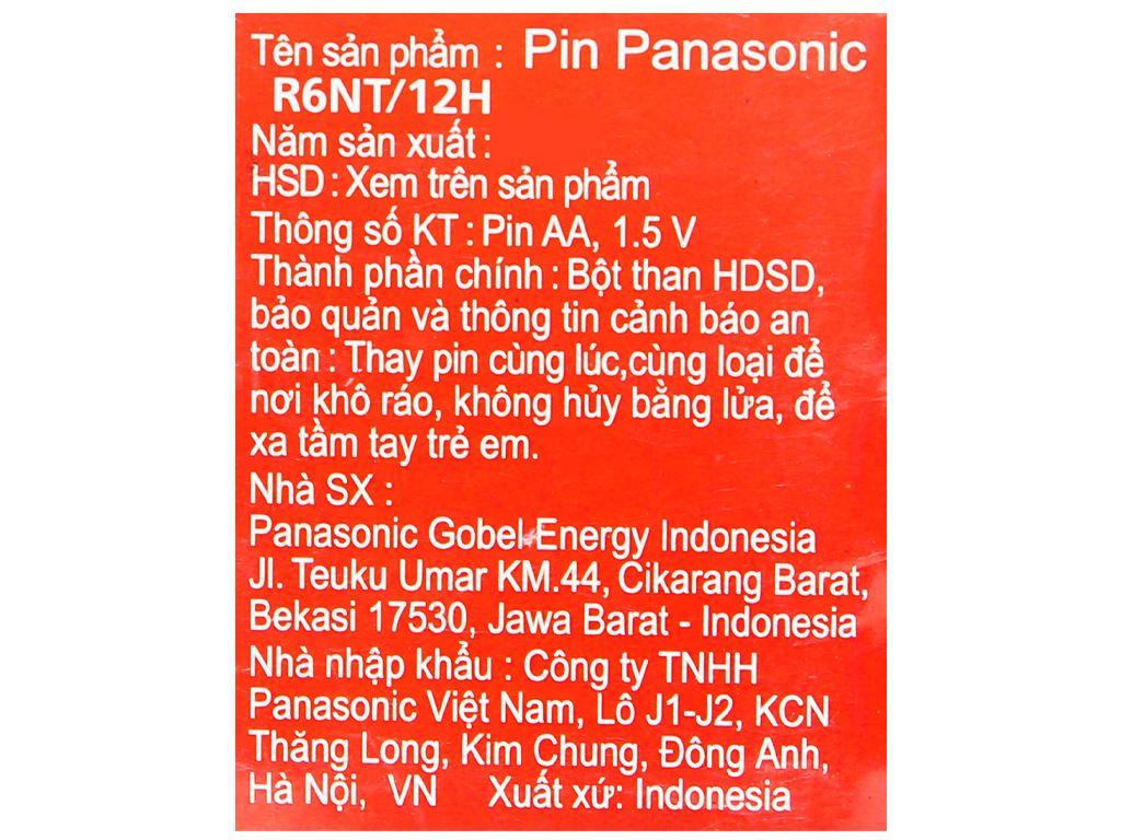 Vỉ 12 viên Pin tiểu AA Panasonic 1.5V MANAGANESE AA R6NT/12H 7