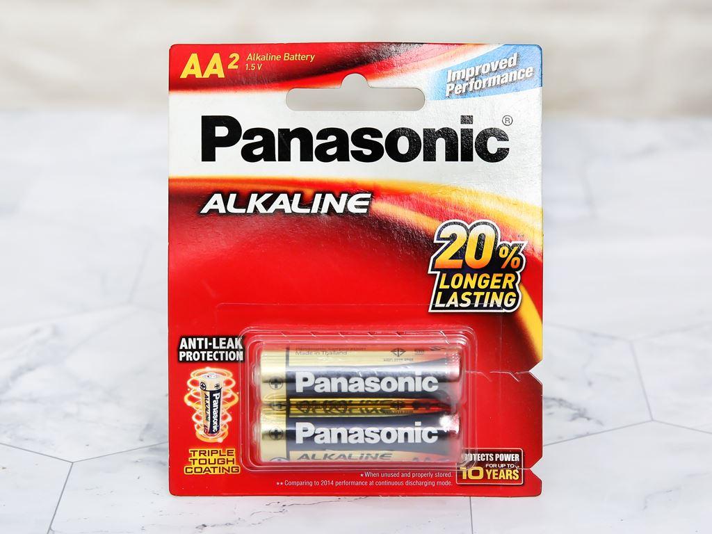 Vỉ 2 viên Pin tiểu AA Philips 1.5V Pana Alkaline