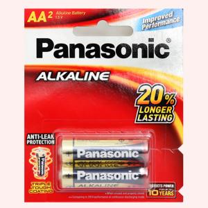 Vỉ 2 viên Pin tiểu AA Panasonic Pana Alkaline LR6T/2B-V