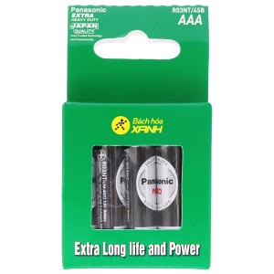 Hộp 4 viên Pin tiểu AAA Panasonic Managanese R03NT/4SB-V
