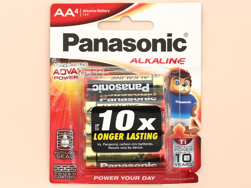 Vỉ 4 viên Pin tiểu AA Panasonic Alkaline AA LR6T/4B-V (LR6T/4B) 6