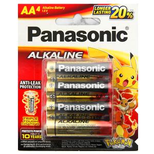 Vỉ 4 viên Pin tiểu AA Panasonic Alkaline AA LR6T/4BPKV