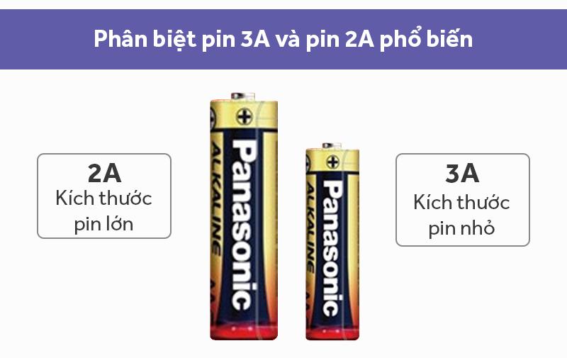 Pin AAA 2 viên Panasonic Alkaline LR03T-2B-V