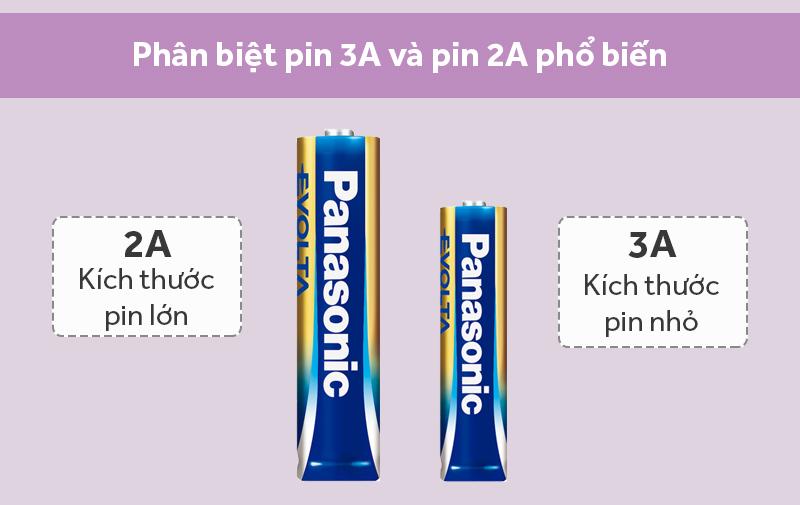 Pin AA 2 viên Panasonic Evolta LR6EG-2BPKV