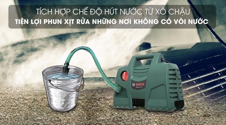 Tích hợp chế độ hút nước tự động - Máy phun xịt rửa áp lực cao Bosch Easy AQT 100