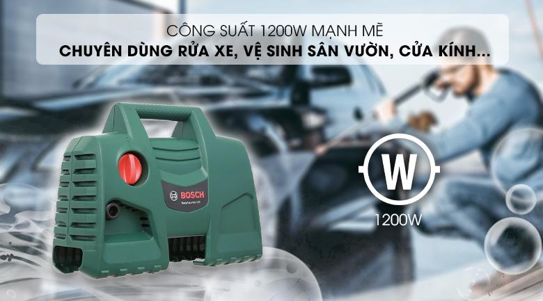 Công suất mạnh mẽ cùng áp lực phun nước lớn - Máy phun xịt rửa áp lực cao Bosch Easy AQT 100