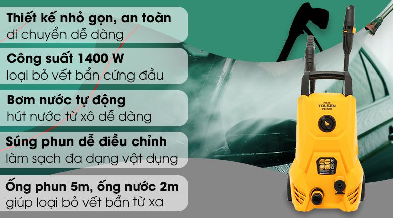 Máy phun xịt rửa áp lực cao Tolsen 79570 1400W