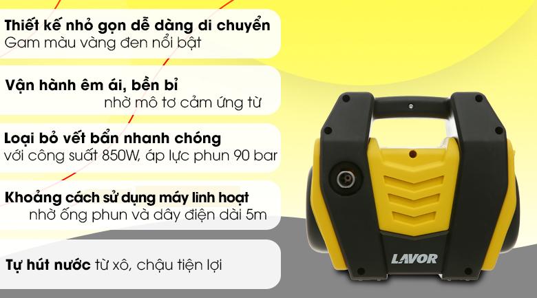 Máy xịt rửa áp lực cao Lavor Hero 105AC 850W