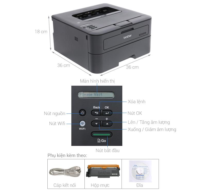 Thông số kỹ thuật Máy in Brother HL-L2366DW Wifi