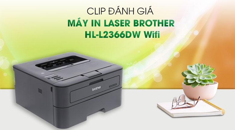 Máy In Laser Trắng Đen Brother HL-L2366DW Wifi
