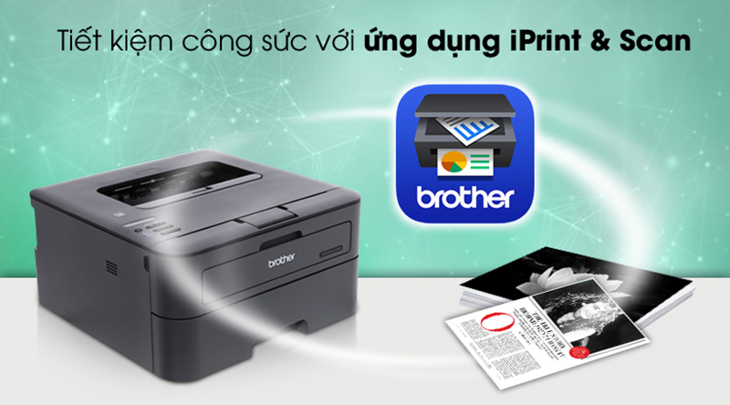 Ứng dụng Iprint & Scan - Máy in Laser Brother HL-L2366DW Wifi