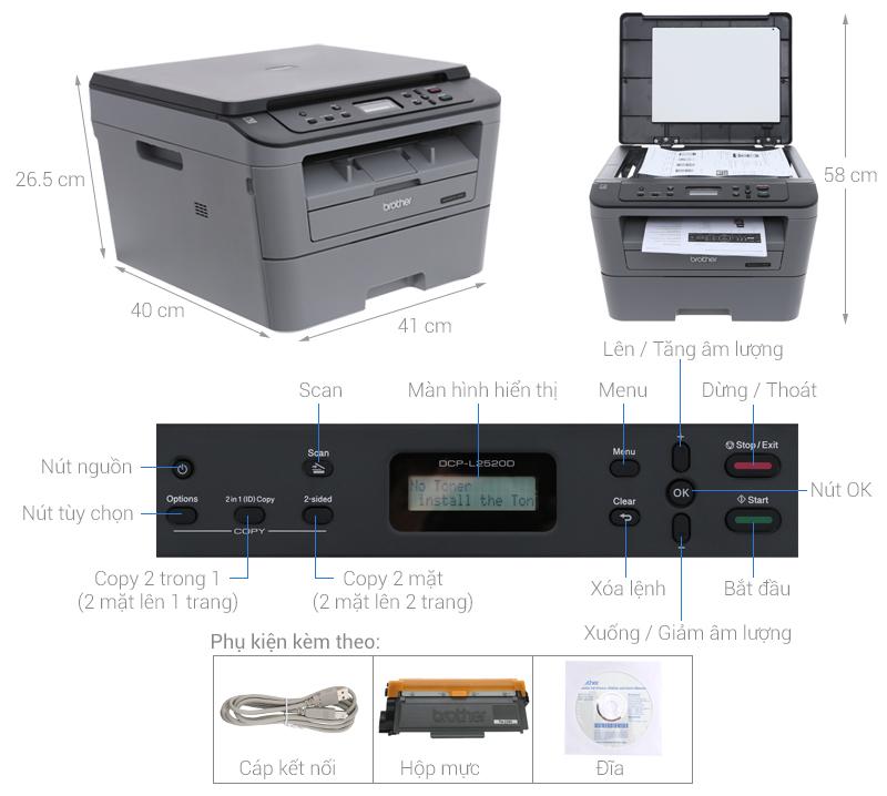 Thông số kỹ thuật Máy in Brother DCP-L2520D