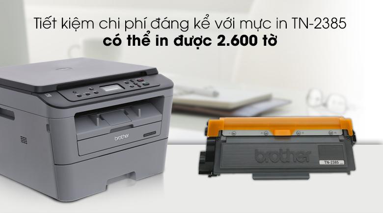 Máy in laser Brother DCP L2520D đa chức năng - Tiết kiệm chi phí in với mực in TN-2385