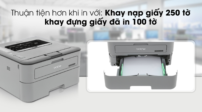 Máy in Laser Brother HL L2321D - Khay nạp giấy
