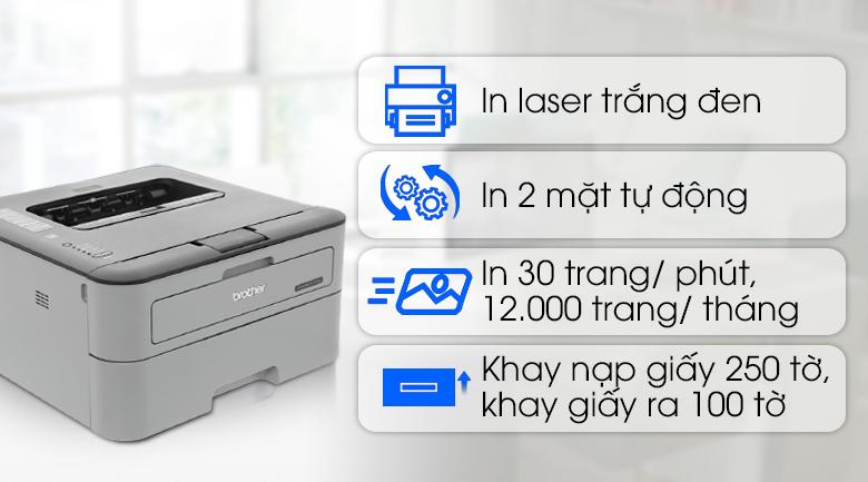 Máy in laser Brother HL L2321D - Chức năng hoạt động hiệu quả