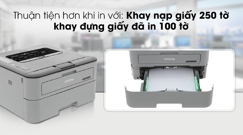 Máy in laser Brother HL L2321D - Khay nạp giấy tiện dụng