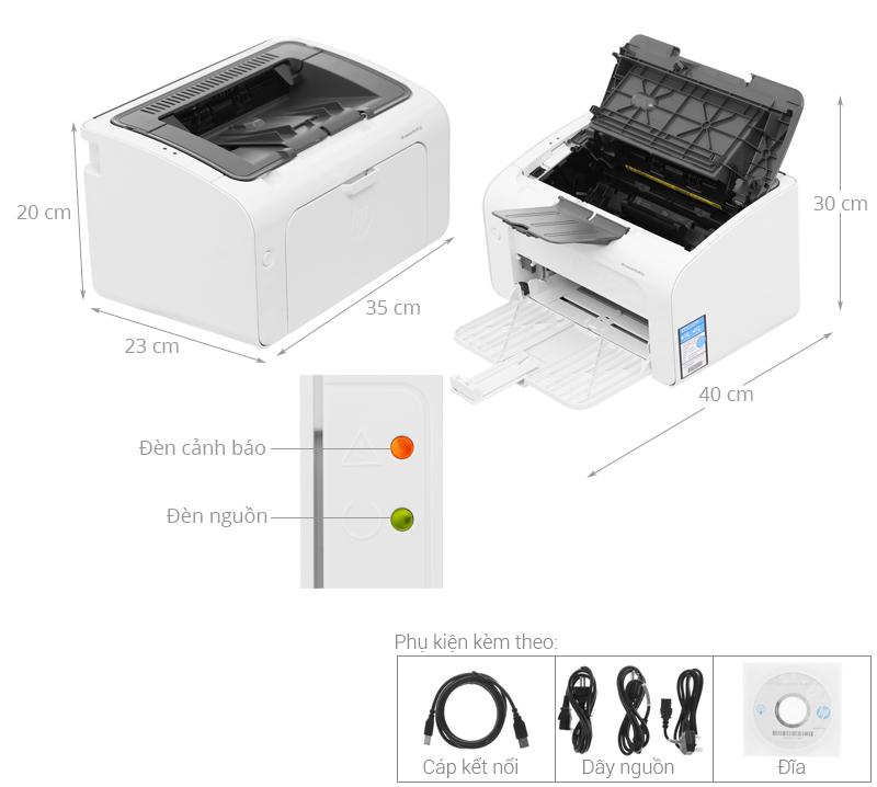 Thông số kỹ thuật Máy in HP LaserJet Pro M12a (T0L45A)