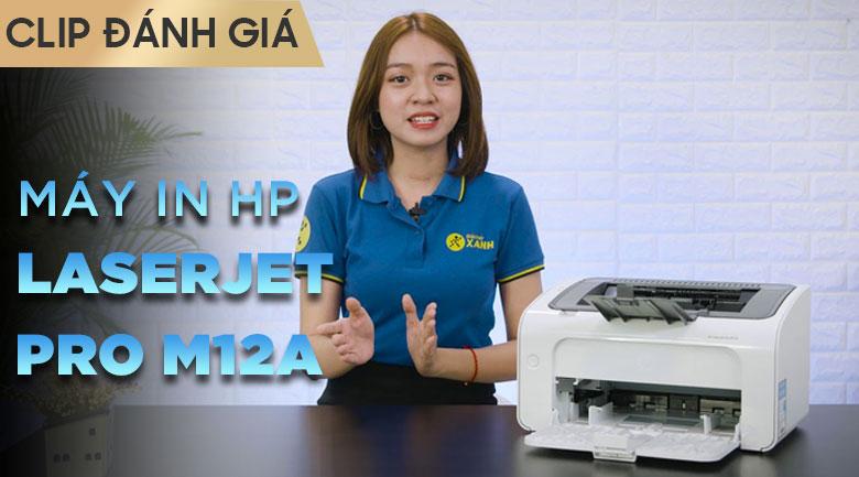 Máy In Laser Trắng Đen HP LaserJet Pro M12a (T0L45A)