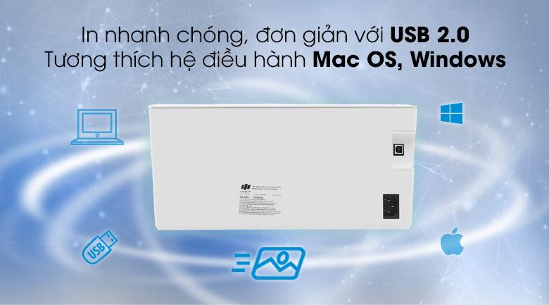 Máy in đa chức năng HP LaserJet Pro M15a (W2G50A) - Cổng USB 2.0