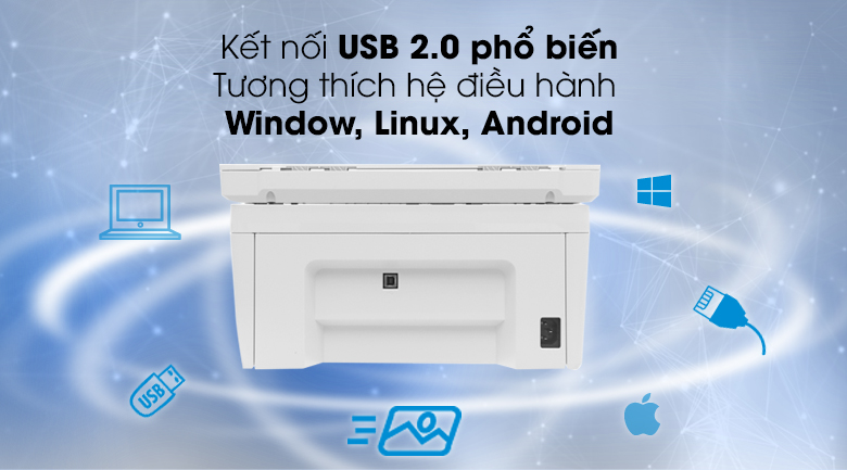 Máy in HP LaserJet Pro MFP M28a (W2G54A) - Kết nối USB