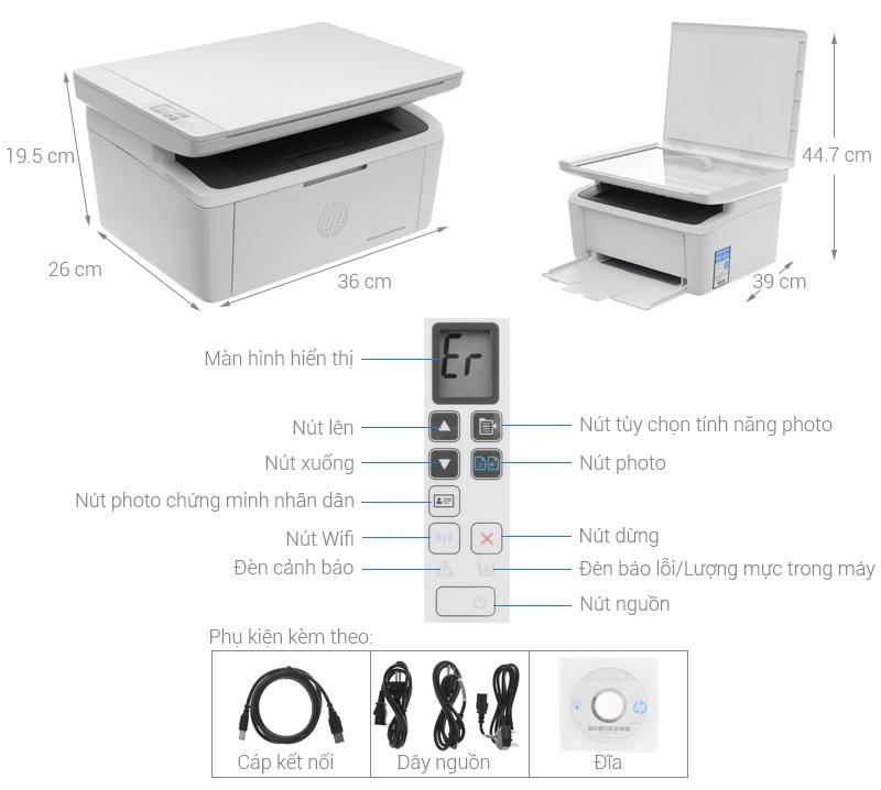 Thông số kỹ thuật Máy in HP LaserJet Pro MFP M28w Wifi