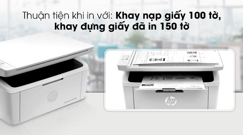 HP LaserJet Pro MFP M28w WI-FI (W2G55A) - Bảng điều khiểnHP LaserJet Pro MFP M28w WI-FI (W2G55A) - Khay chứa giấy thuận tiện
