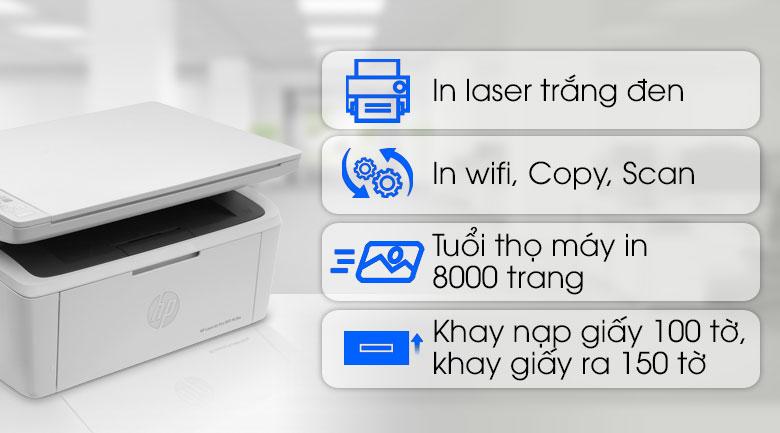Máy in đa năng HP LaserJet Pro MFP M28w W2G55A Wifi - Tổng quan