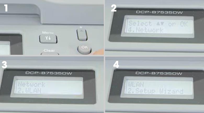 Máy in Laser đa năng trắng đen Brother DCP-B7535DW - Wifi internet