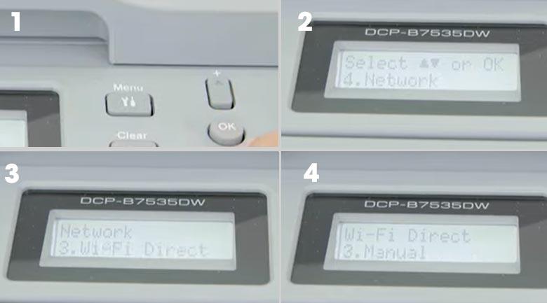Máy in Laser đa năng trắng đen Brother DCP-B7535DW - Wifi Direct