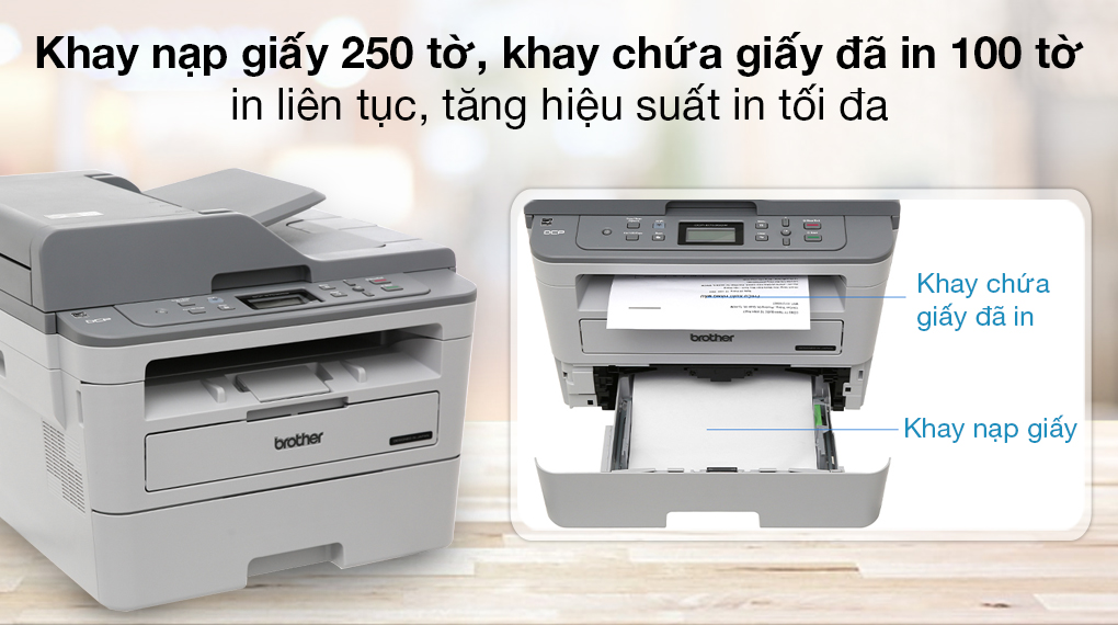 Máy in đa năng Brother DCP-B7535DW Wifi - Khay nạp giấy