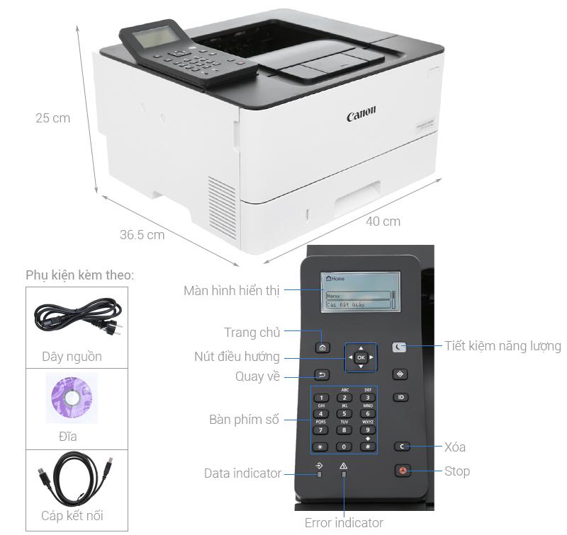 Thông số kỹ thuật Máy in Laser Canon LBP214dw Wifi