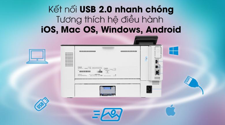 Máy in Laser Canon LBP214dw wifi - Kết nối USB, Wifi